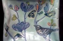 Square Bird Plate