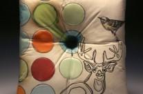 Pillow (buck, bird & dots)