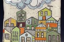 Pillow (rainy city)