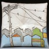 Pillow (birds on wire)